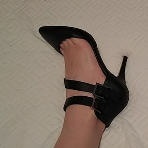 Genuine leather stilettos